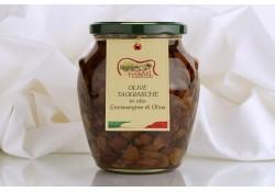 Olive Taggiasche snocc. alla Ligure in olio Extravergine g.620