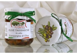 Olive Taggiasche snocc. alla Ligure in olio Extravergine g.180