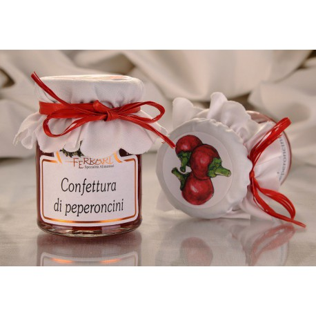 Hot chili peppers jam 100g