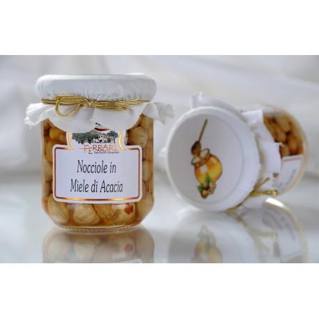 Acacia honey and Piedmont hazelnuts 210g
